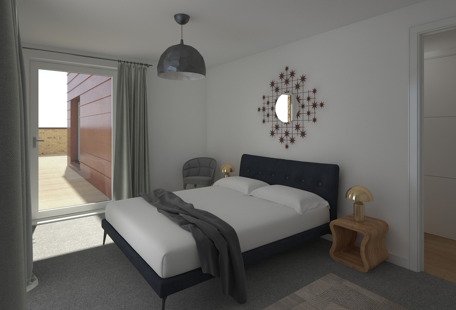 Bed room cgi